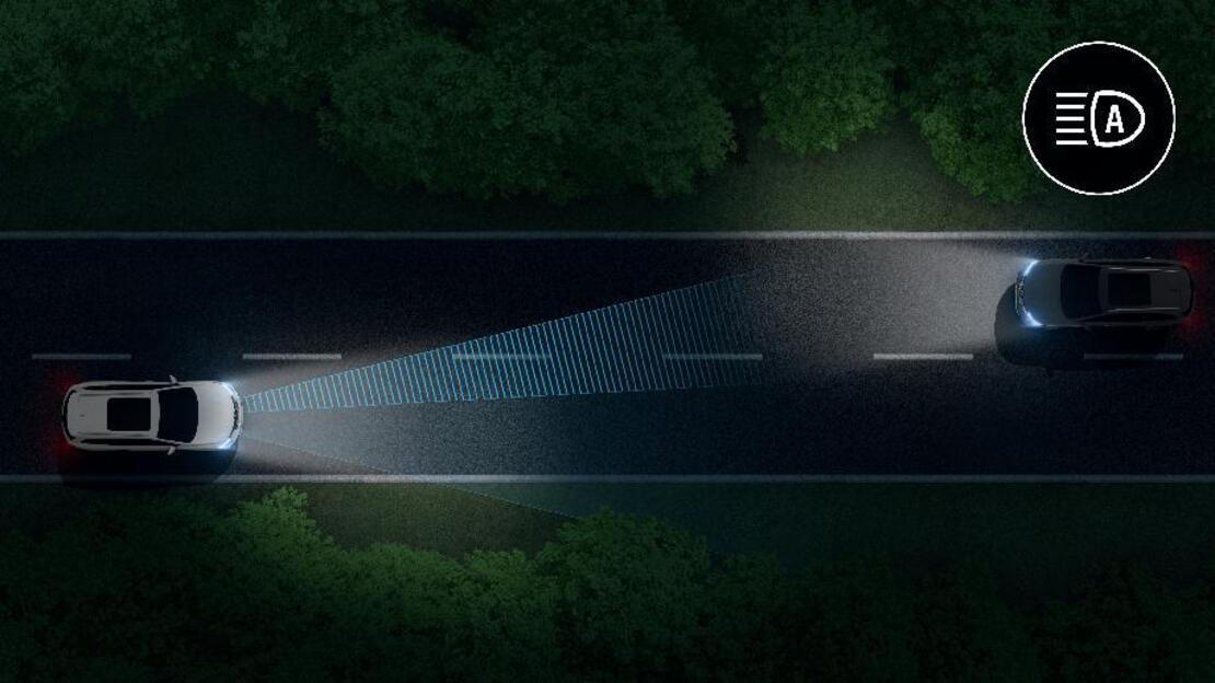 Prestación cambio automatico de las luces de carretera/cruce
