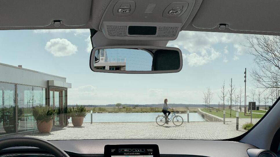 Vozačevo i suvozačevo sjenilo za sunce s ogledalom - bez osvjetljenja