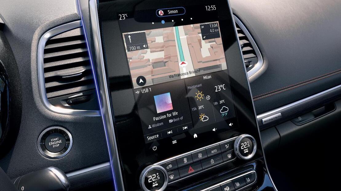Navigationssystem mit Kartenmaterial für Europa und Echtzeit-Verkehrsinformationen