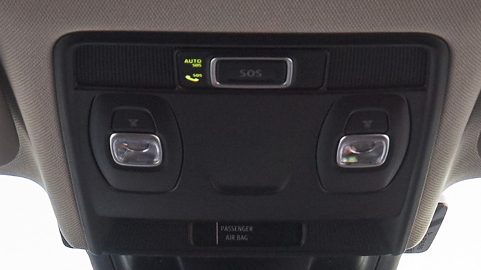 2 Front reading lights