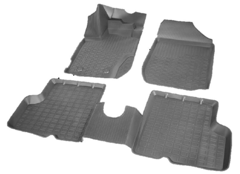 Резиновые коврики салона вакуумные
