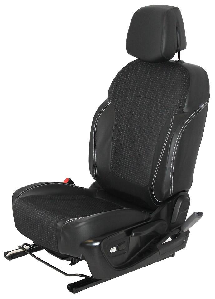 Housses de sièges avant, mise en tablette du siège, appuie tête non inclinable