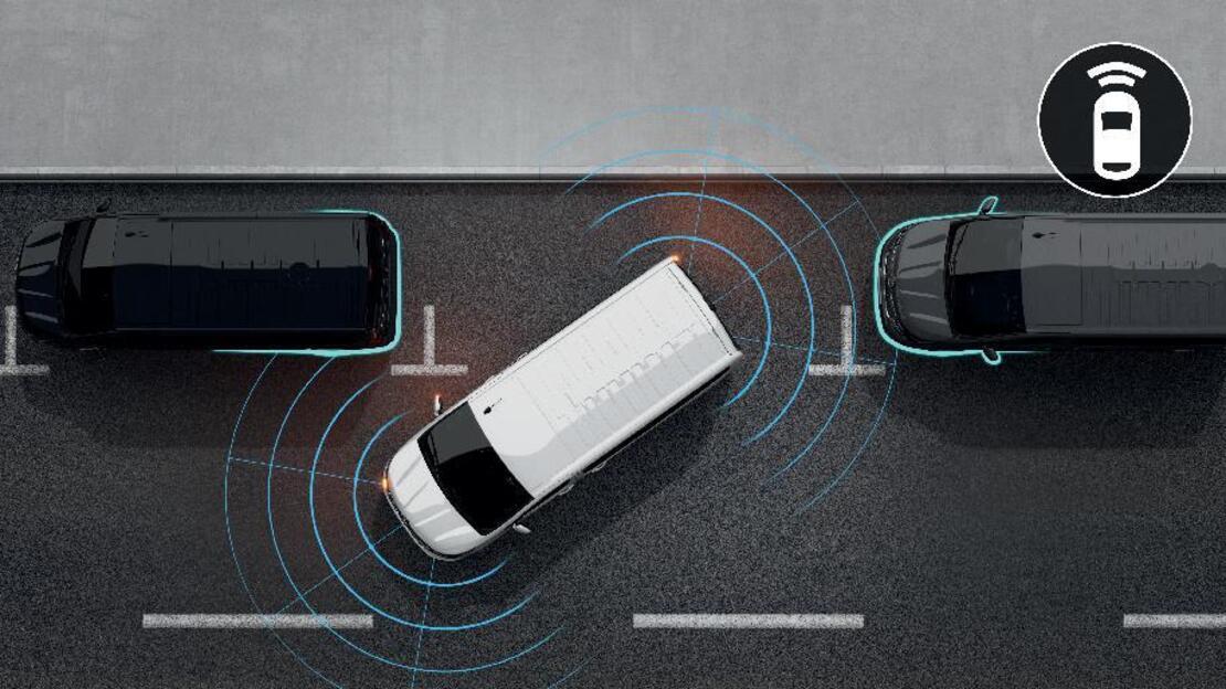Einparkhilfe mit Front- , Rück- und Seitenparksensoren 360°