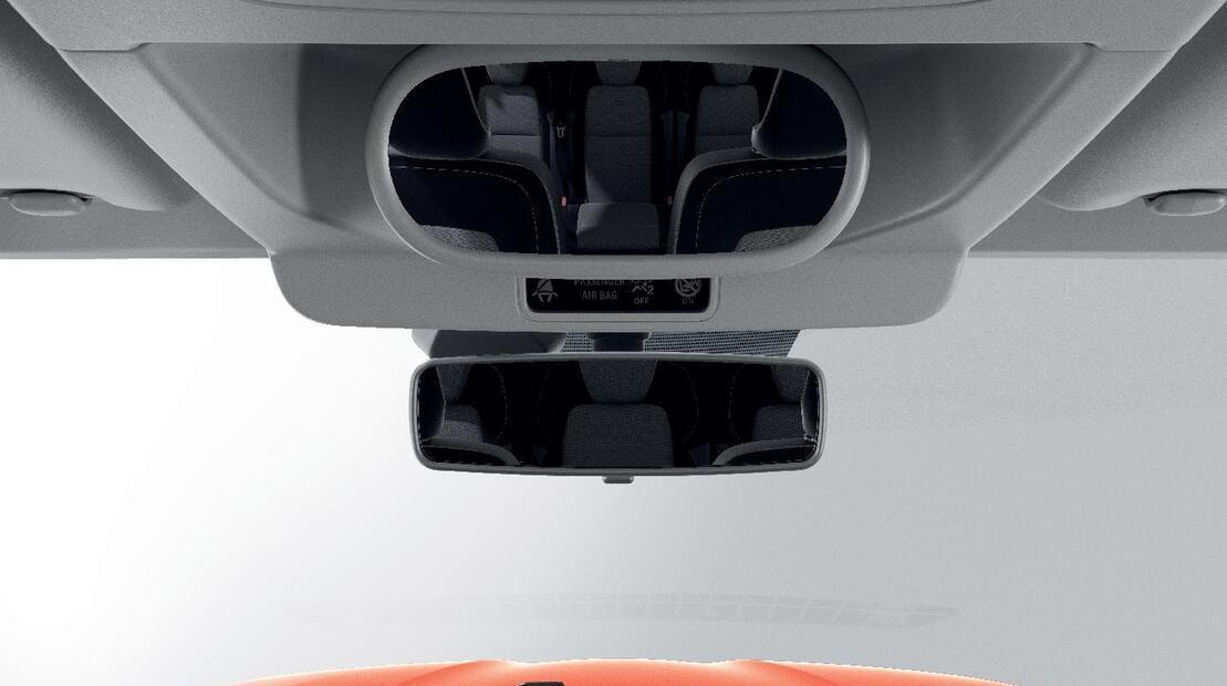 Miroir de surveillance des places arrières