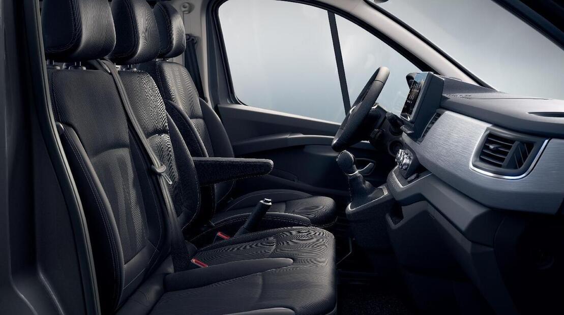 Beifahrerdoppelsitzbank mit Ablagefach unter der Bank