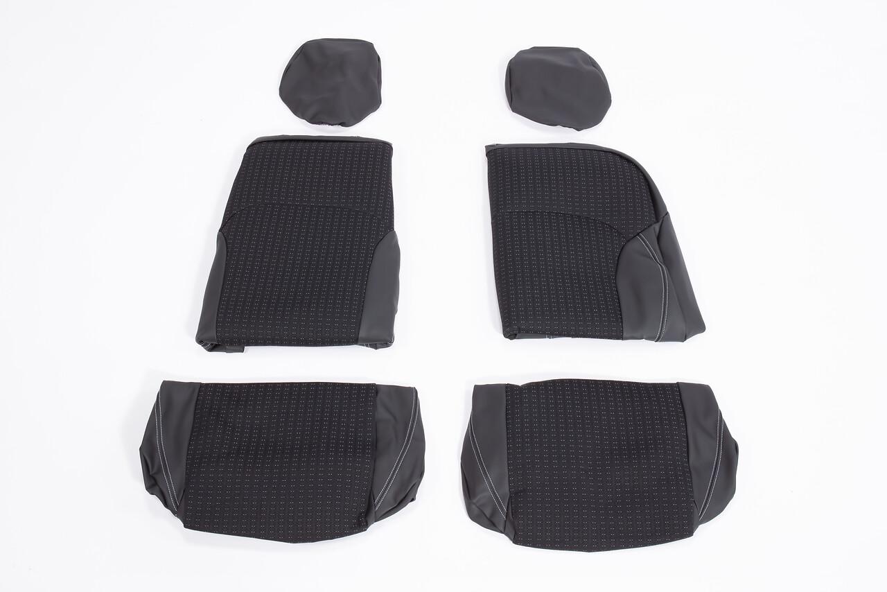 Housses de sièges avant avec appuie tête non inclinable