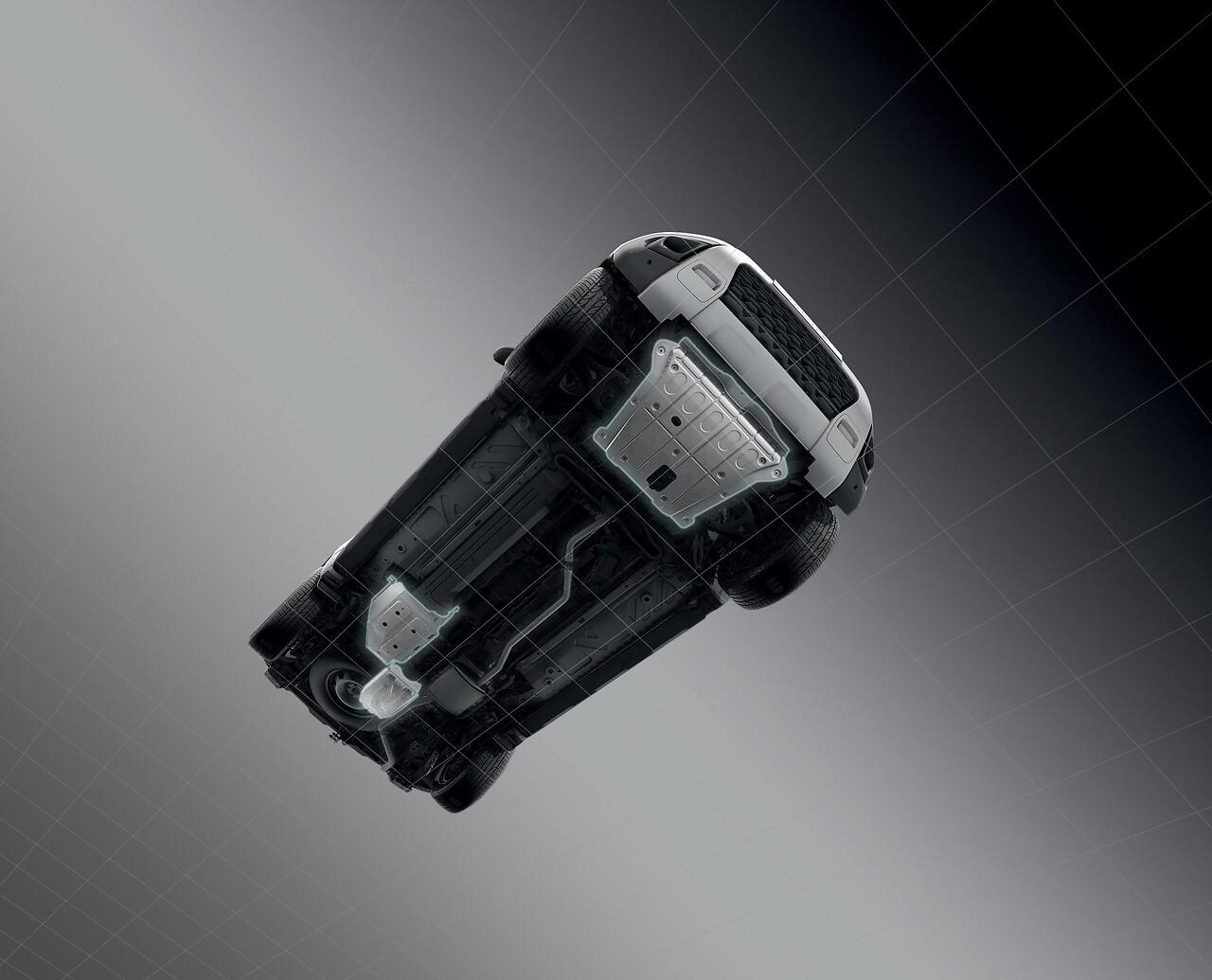 Protection sous caisse zone moteur pour versions 4x2 et 4x4