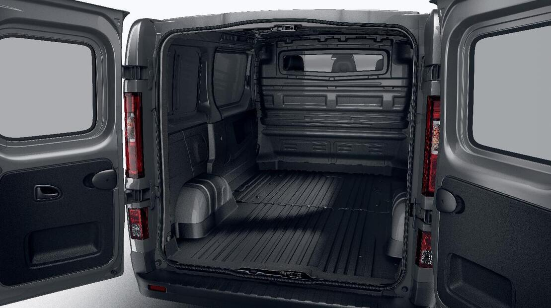 Interior side panels within the load area