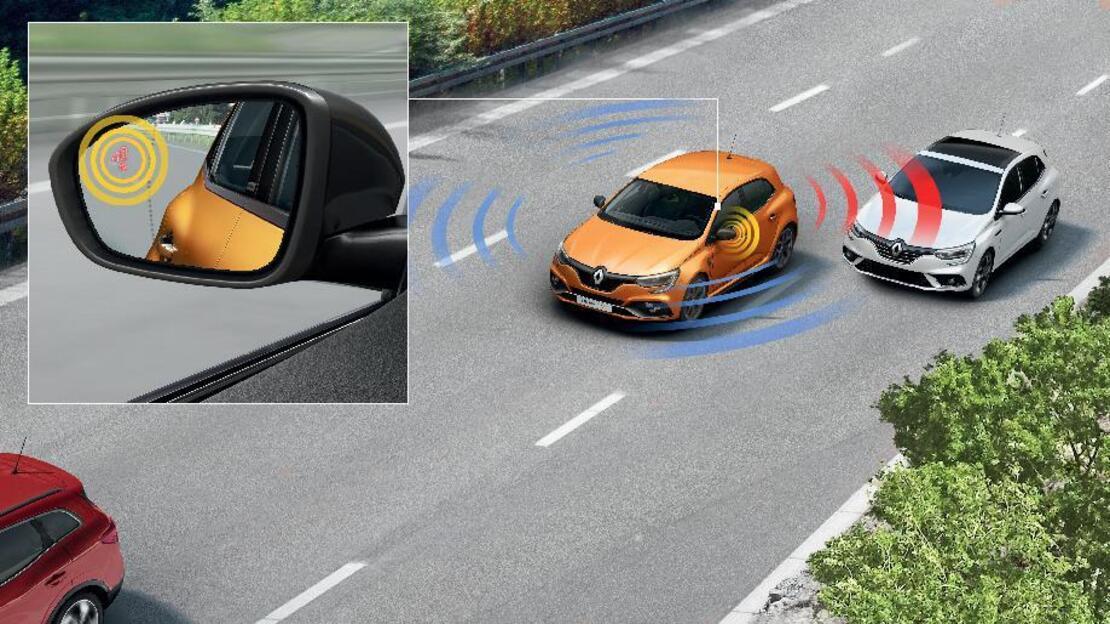 """Система за предупреждение за наличие на обект в """"сляпата"""" точка на автомобила"""