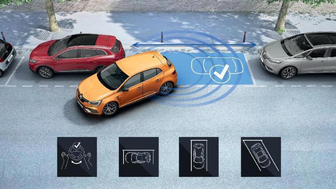 Easy Park Assist, камера за паркиране на заден ход, предупреждение за движещ се обект при паркиране